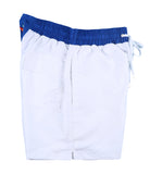 White Blue Swimming Shorts