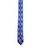 Blue Printed Silk Tie Set