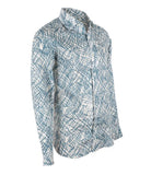 Patterned Linen Shirt, Size XL