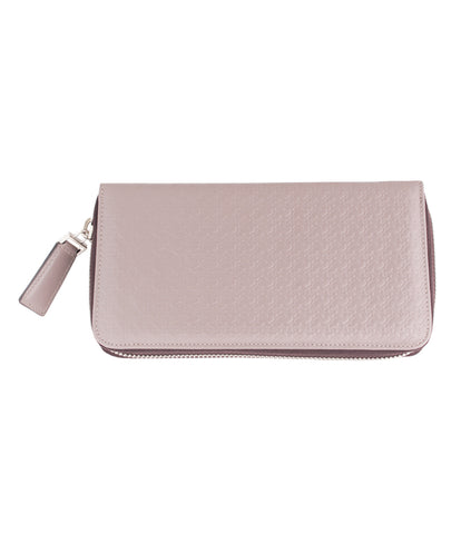Beige Calfskin Zipped Wallet