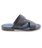 Blue Marine Leather Sandals