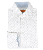 White Blue Pattern Shirt