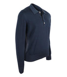 Blue Virgin Wool Sweater