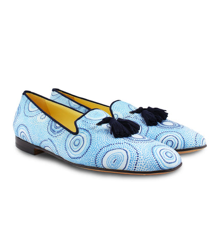 Sky Blue Tassel Loafers