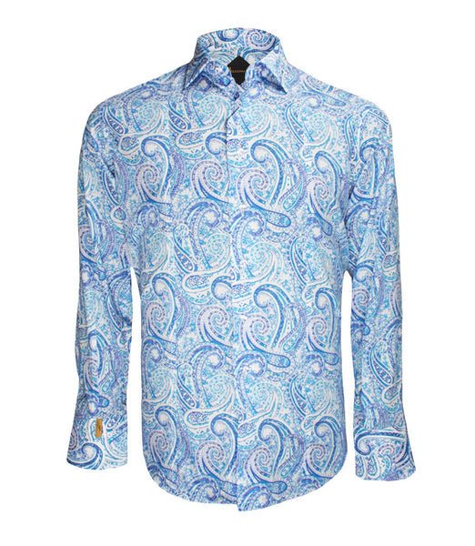 Blue Patterned Shirt Flavio