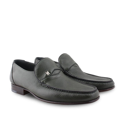 Green Deerskin Loafers