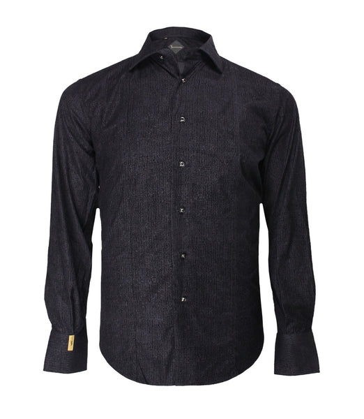Black Patterned Shirt Flavio
