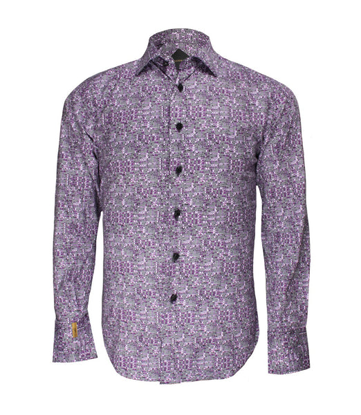 Lilac Patterned Shirt