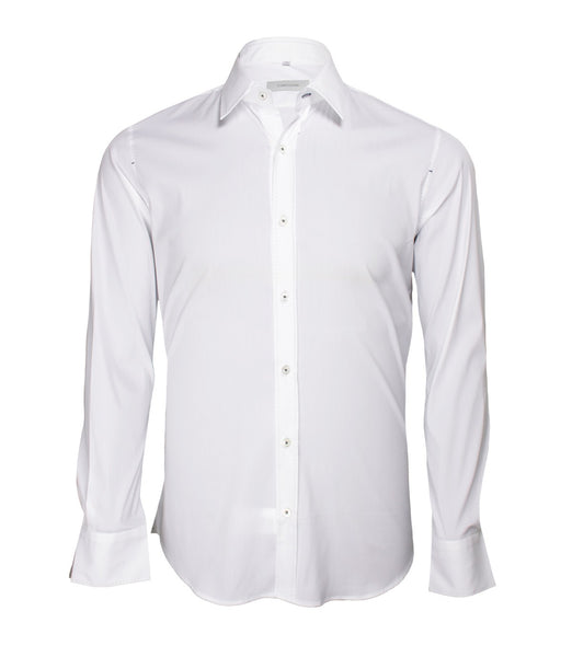White Blue Dress Shirt