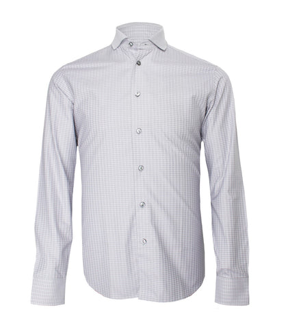 Silver Grey Checked Shirt