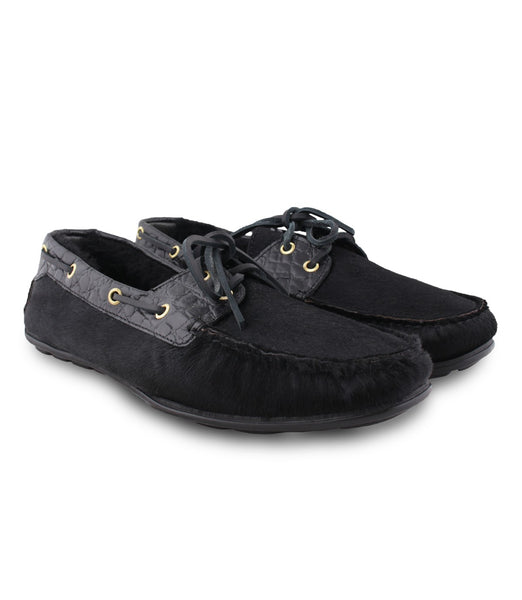Black Haircalf Moccasins
