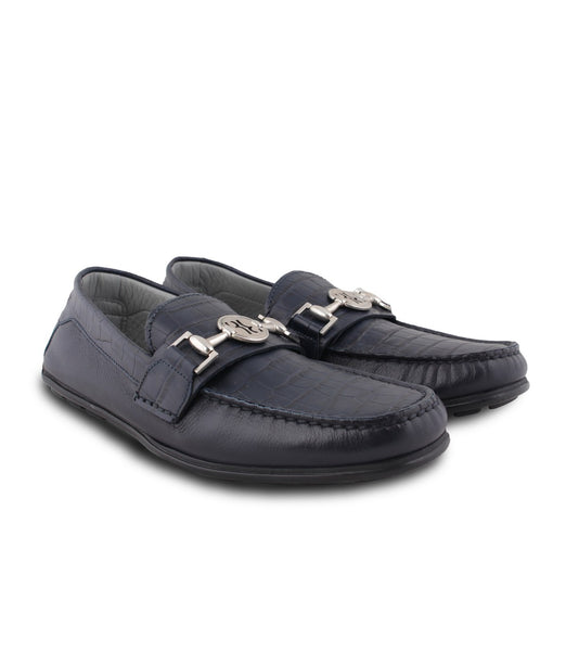 Blue Moccassins, Size 39.5