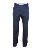 Navy Cotton Silk Chinos