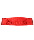 Bright Red Cummerbund Set