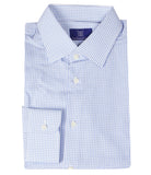 Blue White Checks Shirt, Size 39
