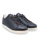 Navy Brown Sneakers