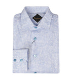 Soft Blue Linen Shirt Flavio