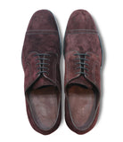 Red Brown Suede Derby