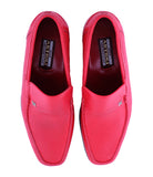 Red Calfskin Loafers