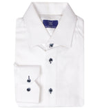 White Shirt With Logo, Size 39