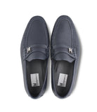 Navy Deerskin Loafers
