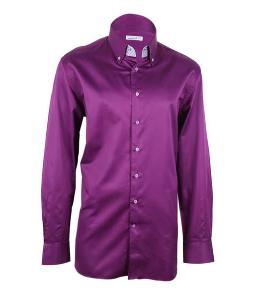 Purple Cotton Shirt, Size 45
