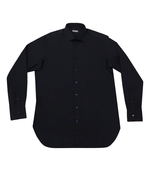 Navy Cotton Shirt, Size 41