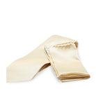 White Silk Tie Set