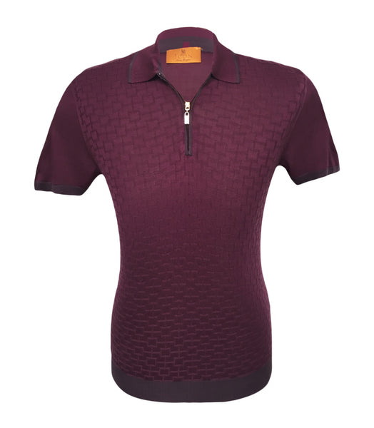 Purple Silk Polo, Size XS