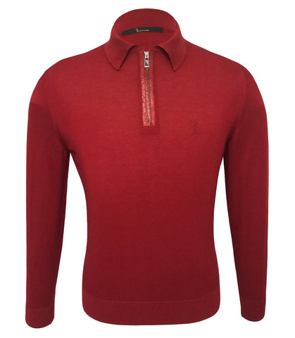 Red Cashmere Silk Sweater