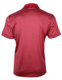 Red Silk Polo Shirt