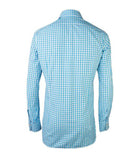 White Blue Checkered Shirt