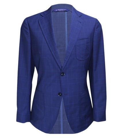 Blue Checked Suit, Size 38""