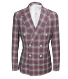 Sangria Checked Suit, Size 38""