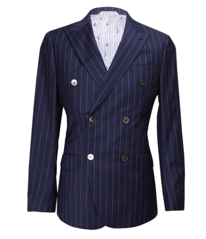 Navy Striped Suit, Size 38""