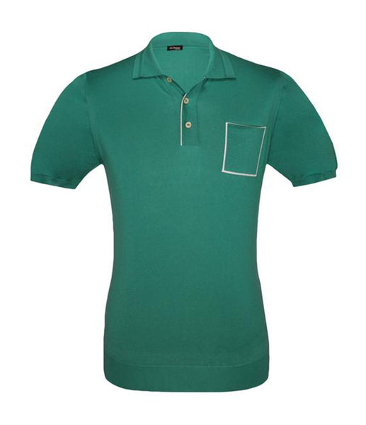 Green Cotton Polo