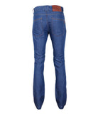 Blue Cotton Linen Jeans
