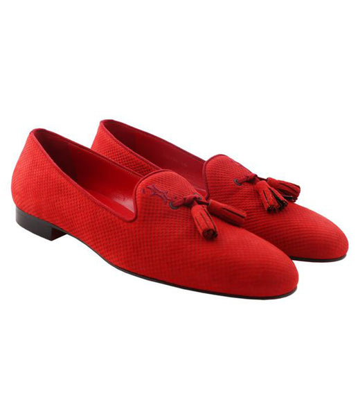 Red Tassel Loafers