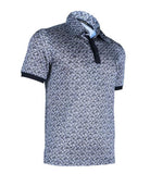 Patterned Jersey Polo Tee