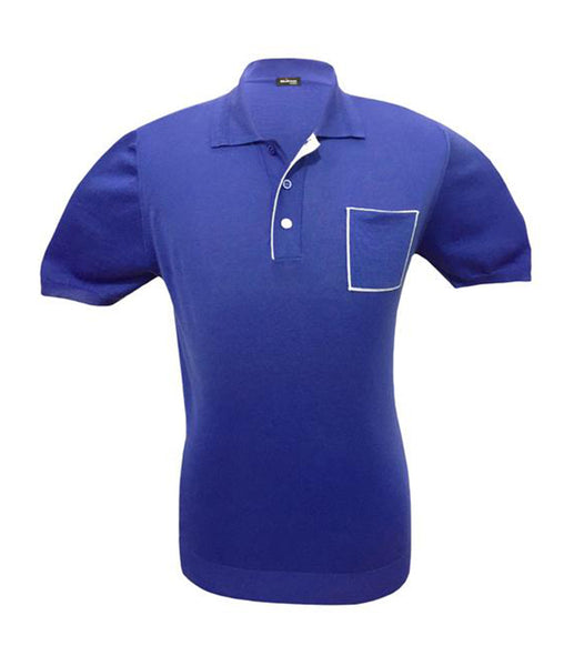 Purple Cotton Polo, Size S