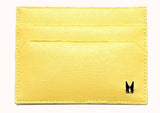 Pale Yellow Calf Card Holder