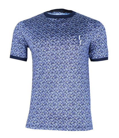 Blue Patterned Tee, Size XXS