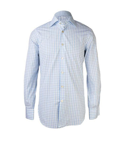 Turquoise Checkered Shirt