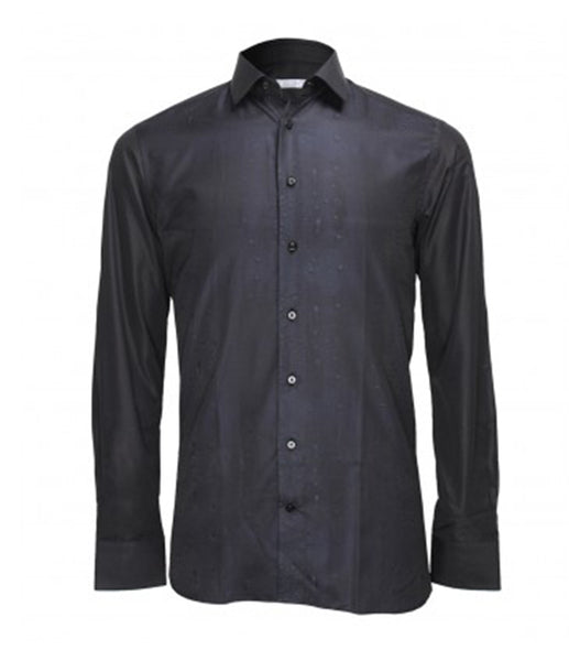 Black Blue Patterned Shirt