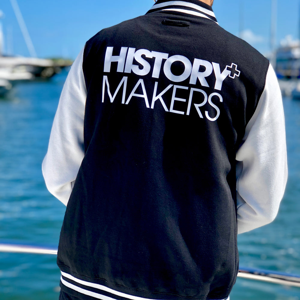 Load image into Gallery viewer, History Makers 02 Collection • Alumni Jacket ( White )