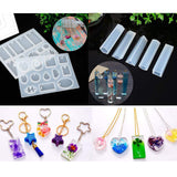 DIY Resin Crystal Jewelry Set