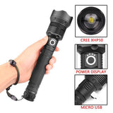 Tactical Flashlight (Included 26650 rechargeable battery)