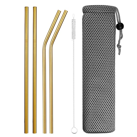 Eco Friendly Reusable Straw Set With Case