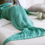 Handmade Knitted Mermaid Tail Blanket