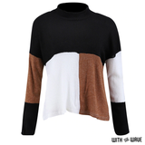 Colorblock Knitted Pullover Sweater